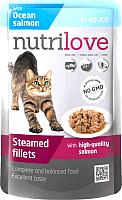 Корм для кошек Nutrilove Salmon in gravy (85г) -
