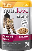 Корм для кошек Nutrilove Chicken in jelly (85г) -