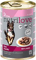 Корм для собак Nutrilove Veal&Turkey in gravy (415г) -