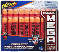 Стрелы для бластера Hasbro Nerf Мега Стрел / B0085 (20шт) -