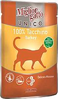 Корм для кошек Miglior Gatto Unico Turkey (85г) -