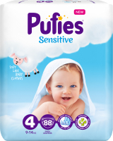 Подгузники Pufies Sensitive Maxi 9-14кг (88шт) -
