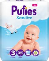 Подгузники Pufies Sensitive Midi 6-10кг (100шт) -