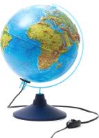 Глобус интерактивный Globen Физико-политический интерактивный с подсветкой / INT12500286 -