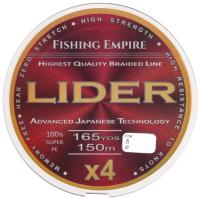 Леска плетеная Fishing Empire Lider Navy Green X4 0.12мм 150м / 150-120 -