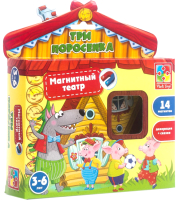 Кукольный театр Vladi Toys Магнитный театр. Три поросенка / VT3206-11 -