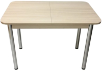 Обеденный стол Solt СТД-08 (шимо светлый/ноги круглые хром) -