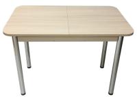 Обеденный стол Solt СТД-09 (шимо светлый/ноги круглые хром) -