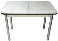 Обеденный стол Solt СТД-09 (северное дерево светлое/черный/ноги круглые хром) -