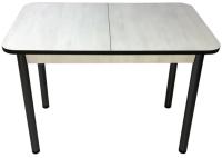 Обеденный стол Solt СТД-09 (северное дерево светлое/черный/ноги круглые черные) -