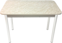 Обеденный стол Solt Молли 2 (мрамор белый/ноги круглые белые) -