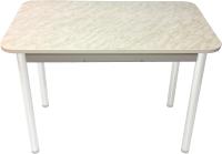 Обеденный стол Solt Молли 3 (мрамор белый/ноги круглые белые) -