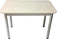 Обеденный стол Solt Молли 2 (мрамор белый/ноги круглые хром) -