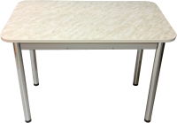 Обеденный стол Solt Молли 3 (мрамор белый/ноги круглые хром) -