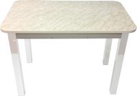 Обеденный стол Solt Молли 2 (мрамор белый/ноги квадратные белые) -