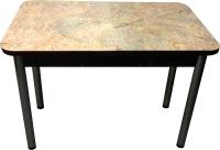 Обеденный стол Solt Молли 3 (мрамор золотой/ноги круглые черные) -