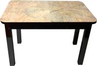 Обеденный стол Solt Молли 2 (мрамор золотой/ноги квадратные черные) -