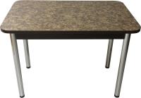 Обеденный стол Solt Молли 2 (умбрия/ноги круглые хром) -
