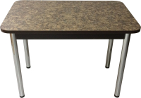 Обеденный стол Solt Молли 3 (умбрия/ноги круглые хром) -