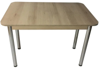 Обеденный стол Solt СТД-08 (дуб/ноги круглые хром) -