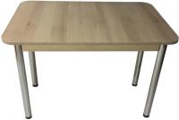 Обеденный стол Solt СТД-09 (дуб/ноги круглые хром) -