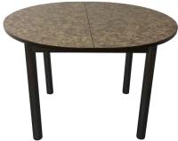 Обеденный стол Solt Круглый раздвижной (умбрия/ноги круглые черные) -