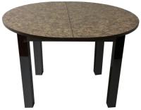 Обеденный стол Solt Круглый раздвижной (умбрия/ноги квадратные черные) -