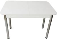 Обеденный стол Solt СТД-09 (белый/ноги круглые хром) -