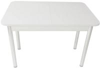 Обеденный стол Solt СТД-08 (белый/ноги круглые белые) -