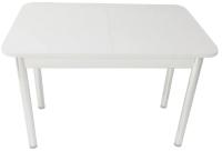 Обеденный стол Solt СТД-09 (белый/ноги круглые белые) -