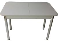 Обеденный стол Solt СТД-08 (серый/ноги круглые хром) -