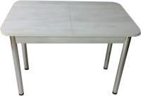 Обеденный стол Solt СТД-08 (северное дерево светлое/ноги круглые хром) -