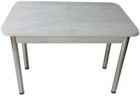 Обеденный стол Solt СТД-09 (северное дерево светлое/ноги круглые хром) -