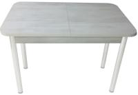 Обеденный стол Solt СТД-08 (северное дерево светлое/ноги круглые белые) -