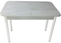 Обеденный стол Solt СТД-09 (северное дерево светлое/ноги круглые белые) -