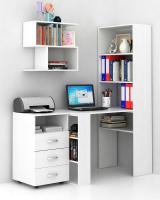 Комплект мебели для кабинета MFMaster Рикс УШ-4-01 / Рикс-4-01-БТ-16 (белый) -