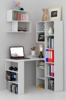 Комплект мебели для кабинета MFMaster Рикс УШ-2-01 / Рикс-2-01-БТ-16 (белый) -