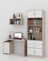 Комплект мебели для кабинета MFMaster Слим УШ-2-04 / Слим-2-04-ДС-БТ-16 (дуб сонома/белый) -
