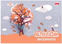 Альбом для рисования Hatber Совушки / 12А4B -