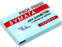 Блок для записей Проф-Пресс ЗБ-1551 (голубой) -