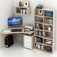 Комплект мебели для кабинета MFMaster Триан УШ-5-03 / Триан-5-03-СБ-16 (дуб сонома/белый) -
