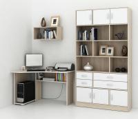 Комплект мебели для кабинета MFMaster Триан УШ-1-03 / Триан-1-03-ДС (дуб сонома) -