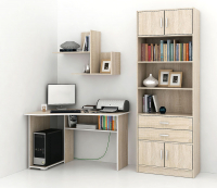 Комплект мебели для кабинета MFMaster Триан УШ-1-02 / Триан-1-02-ДС (дуб сонома) -