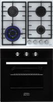 Комплект встраиваемой техники Krona Essenza 60 BL + Ardore 60 WH -