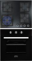 Комплект встраиваемой техники Krona Essenza 60 BL + Calore 60 BL -