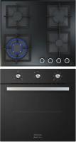 Комплект встраиваемой техники Krona Sorrento 60 BL + Calore 60 BL -