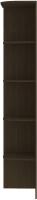 Угловое окончание для шкафа Кортекс мебель Сенатор КМ32-45 (венге) -