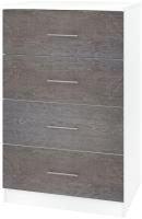 Комод Кортекс-мебель Модерн 60-4ш (белый/береза) -