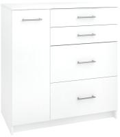 Комод Кортекс-мебель Модерн 90-1д4ш (белый) -