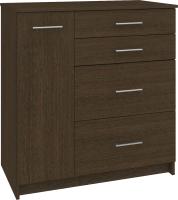 Комод Кортекс-мебель Модерн 90-1д4ш (венге) -